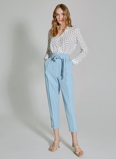 People By Fabrika Bağlama Detaylı Pantolon Mavi